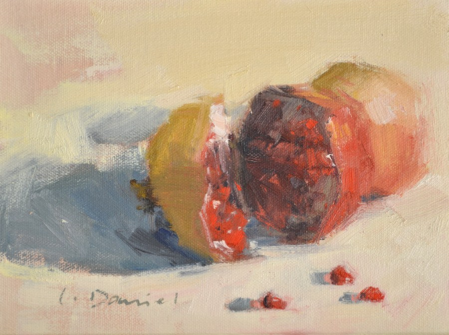 """Healing Fruit"" original fine art by Laurel Daniel"