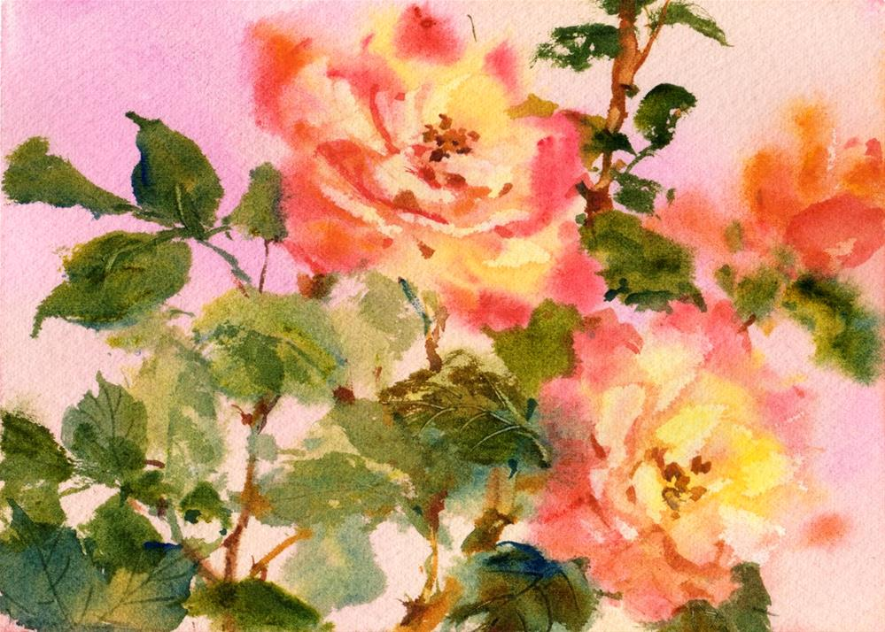 """Rosa Peace"" original fine art by Linda Henry"