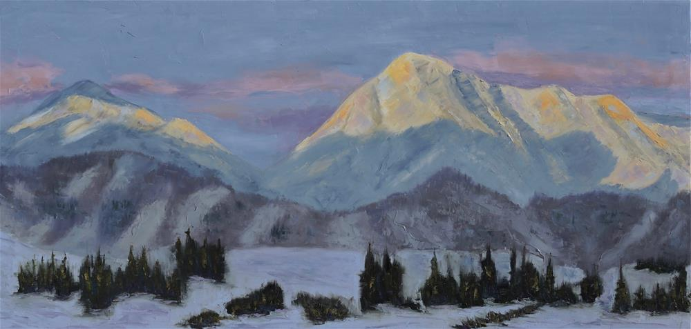 """Alpenglow"" original fine art by Linda mooney"