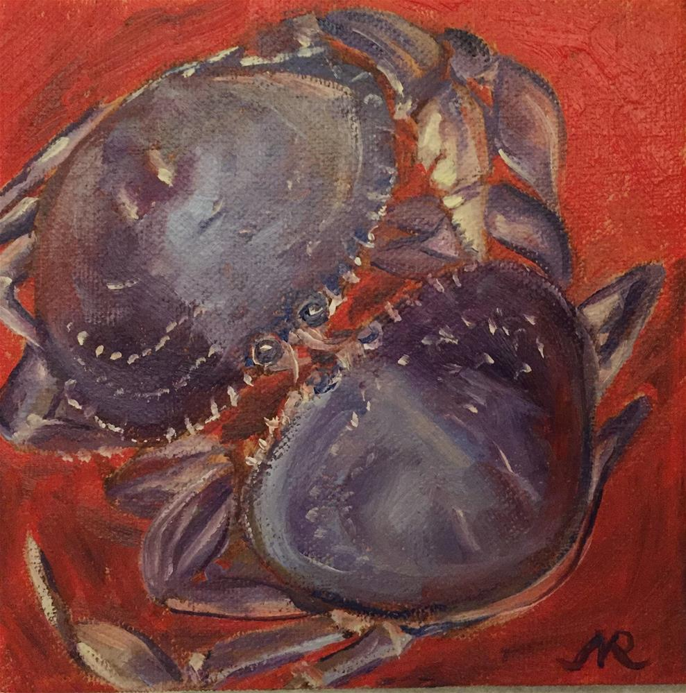 """Yummy catch"" original fine art by Natasha Ramras"