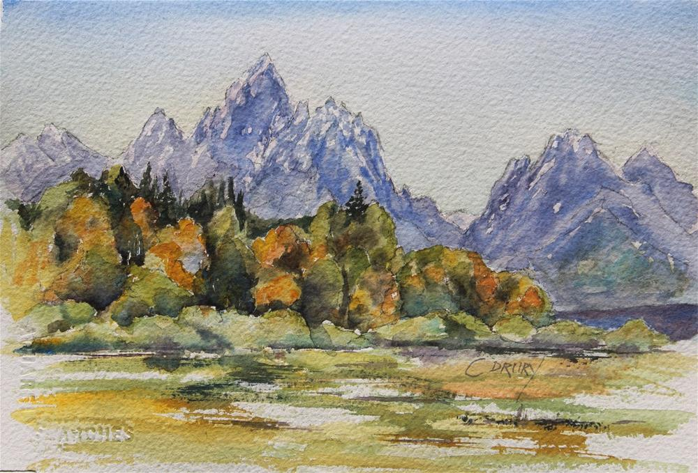 """Fall in the Tetons"" original fine art by Colleen Drury"