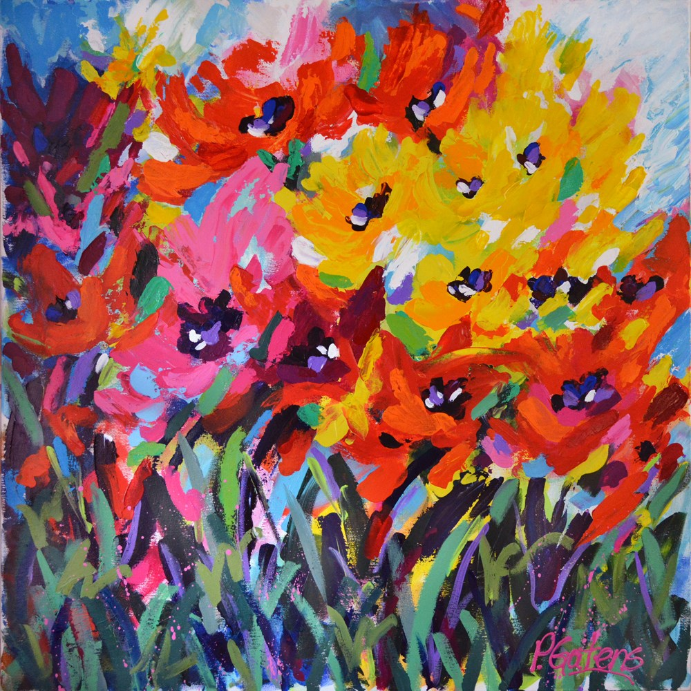 """Poppy Field"" original fine art by Pamela Gatens"