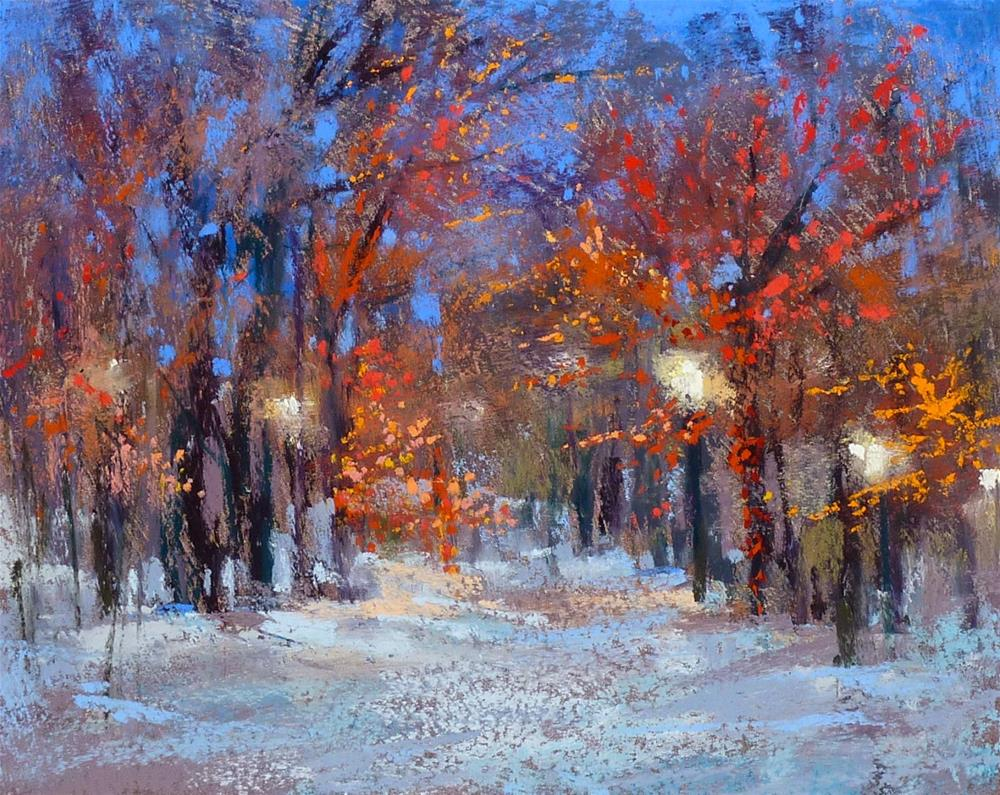 """How to Paint Christmas Lights with Pastels"" original fine art by Karen Margulis"
