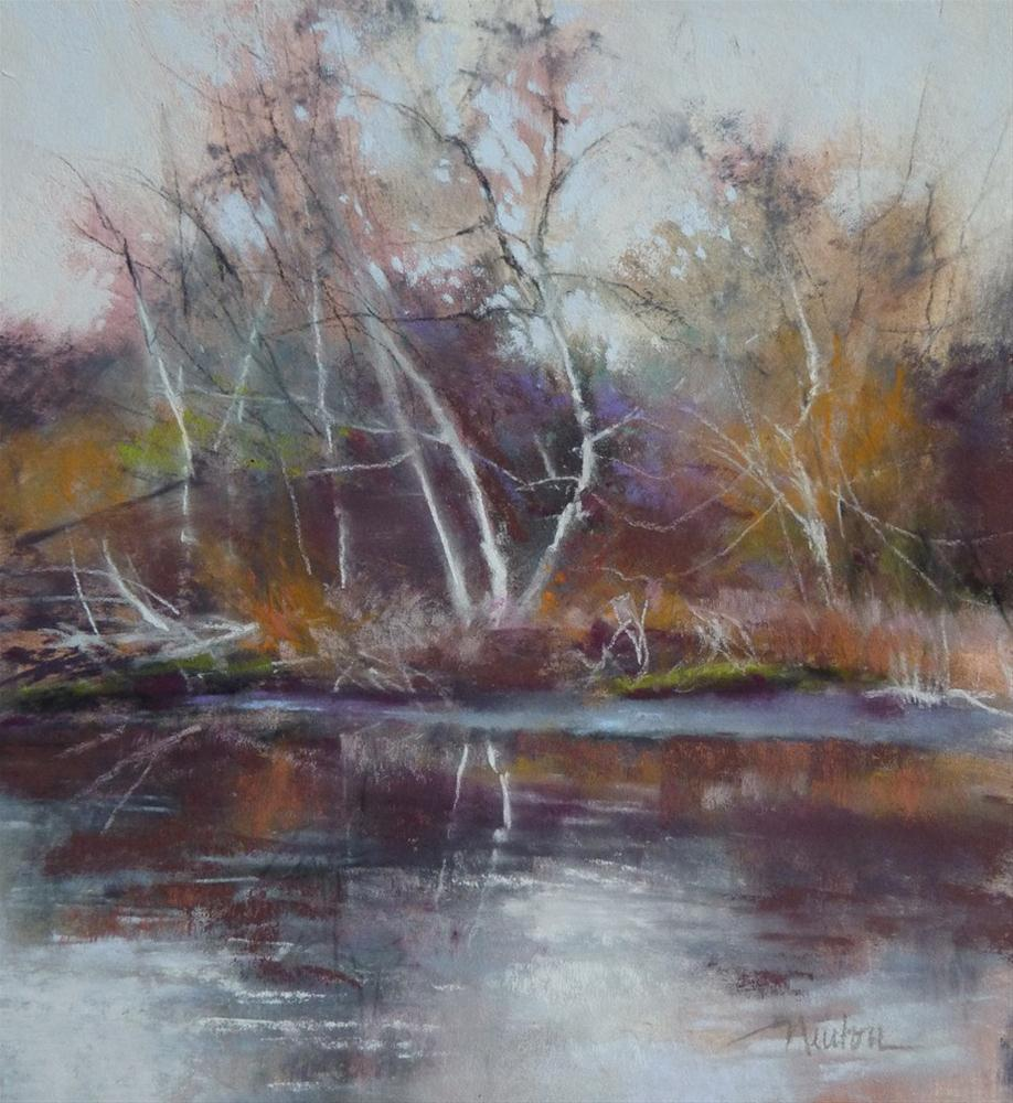 """Color Study for Arboretum - Winter Color"" original fine art by Barbara Benedetti Newton"