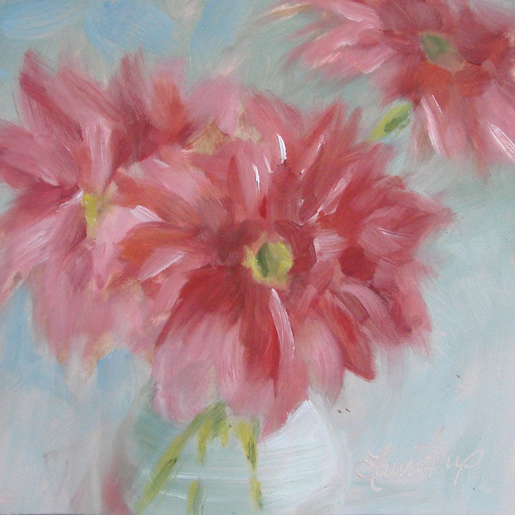 """Pink - 391"" original fine art by Laura  Buxo"