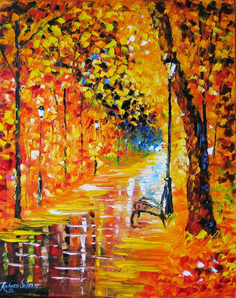 """Fall Path"" original fine art by Richard St.Jean"