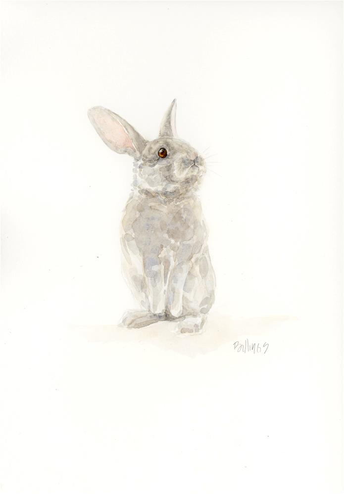 """Upstanding Rabbit I"" original fine art by Susanne Billings"