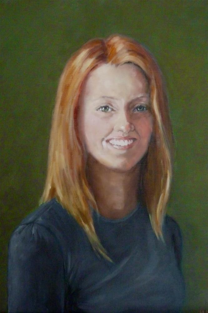 """""""Shannon"""" original fine art by Helene Adamson"""