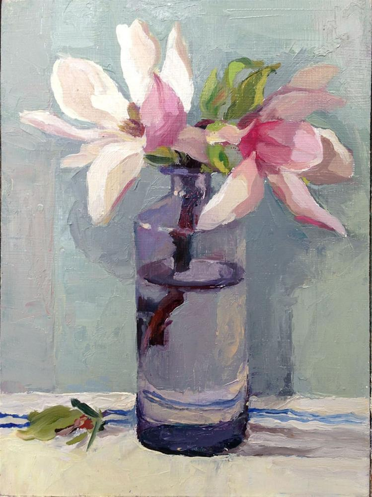 """UntitledEnd of Season Magnolia"" original fine art by Myriam Kin-Yee"