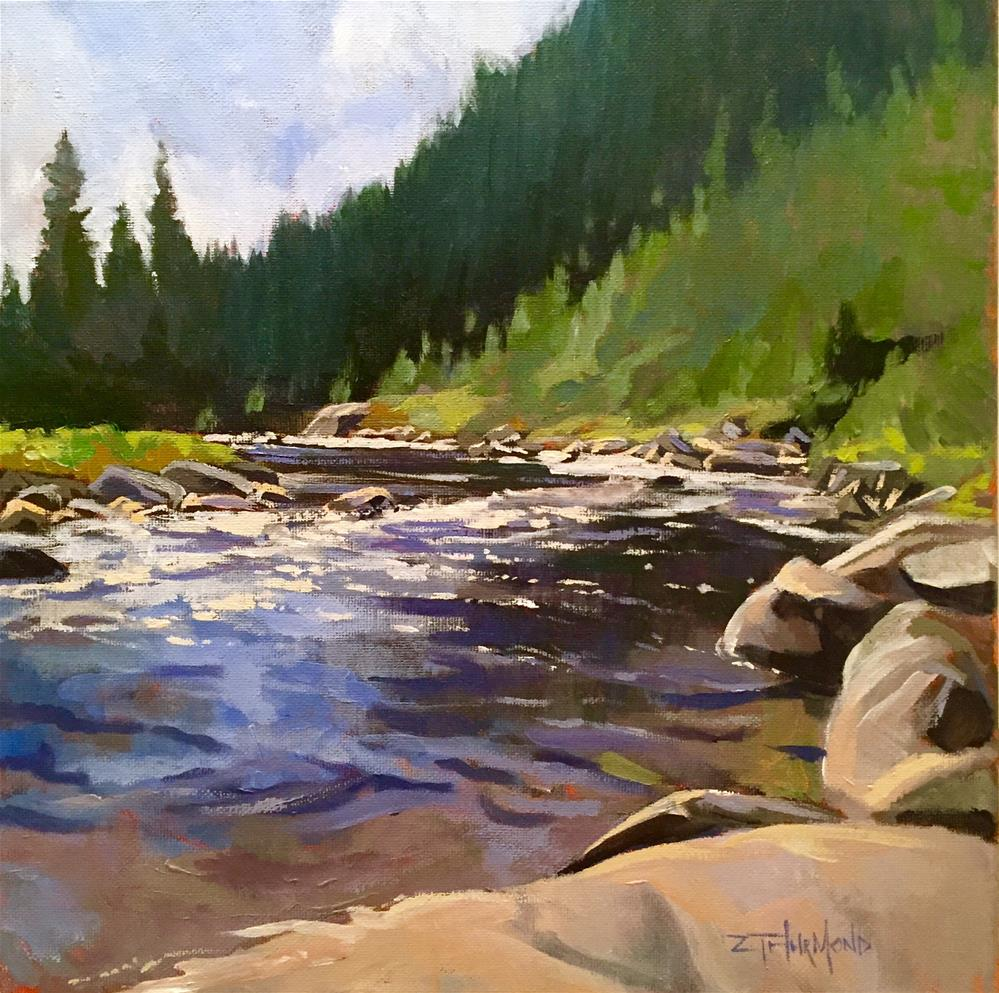 """Payette River Bend"" original fine art by Zack Thurmond"