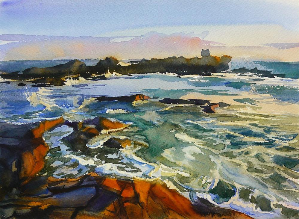 """Quiberon coast"" original fine art by Beata Musial-Tomaszewska"