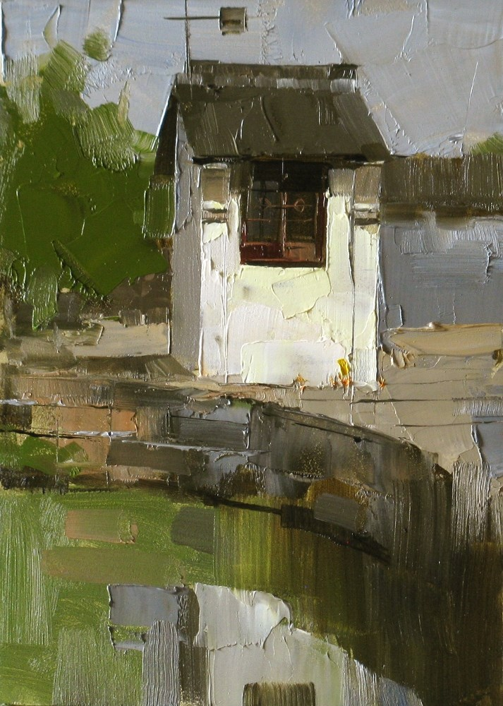 """A Small House at Wuzhen"" original fine art by Qiang Huang"