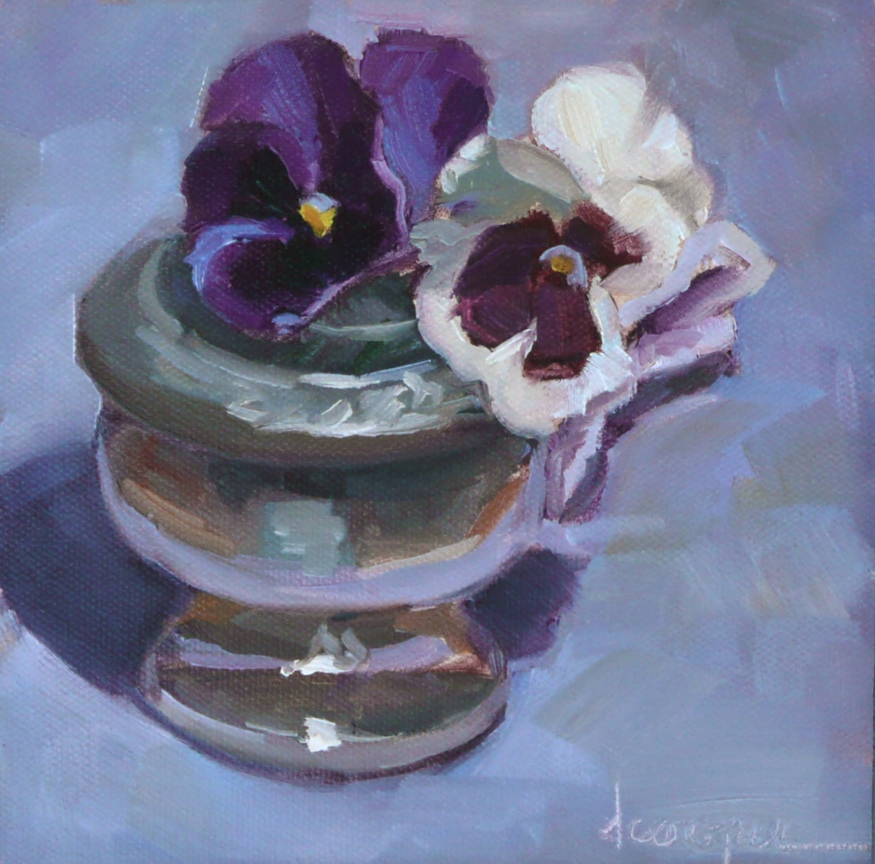 """Pansy Pose"" original fine art by Dana Cooper"