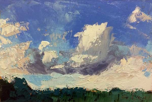 """Incoming Clouds"" original fine art by Mary Gilkerson"