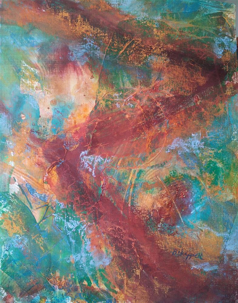 """Zig Zag"" original fine art by Becky Chappell"