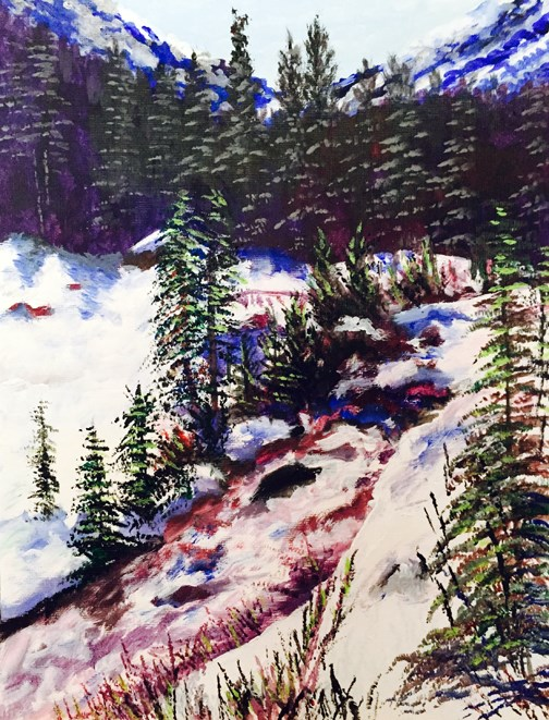 """Okanogan Mountain Stream"" original fine art by Nan Johnson"