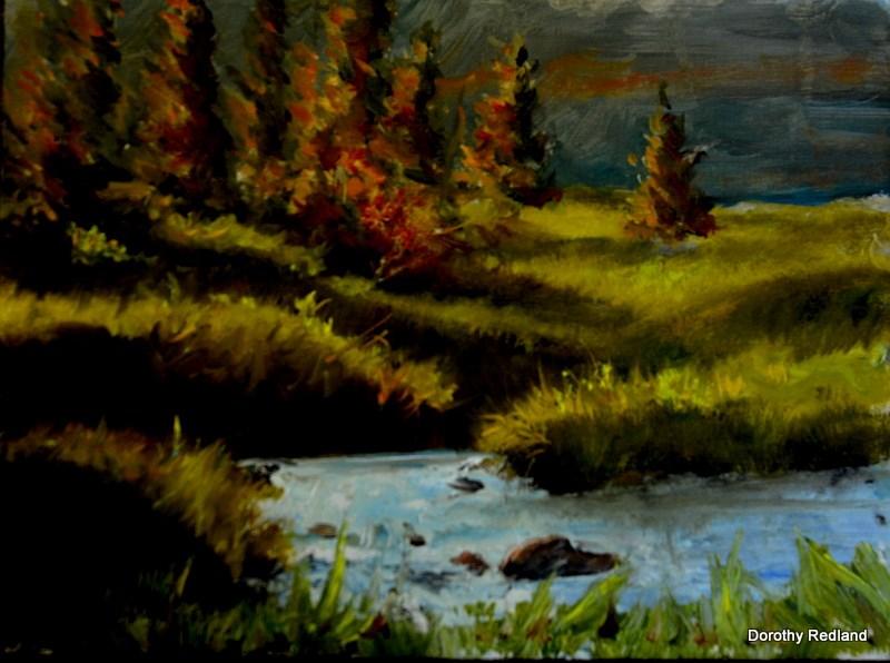 """""""Evening Light"""" original fine art by Dorothy Redland"""