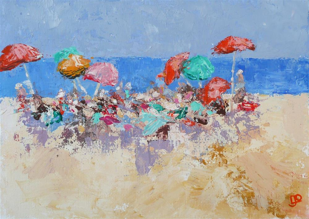 """Beach Fiesta"" original fine art by Leanne Owen"