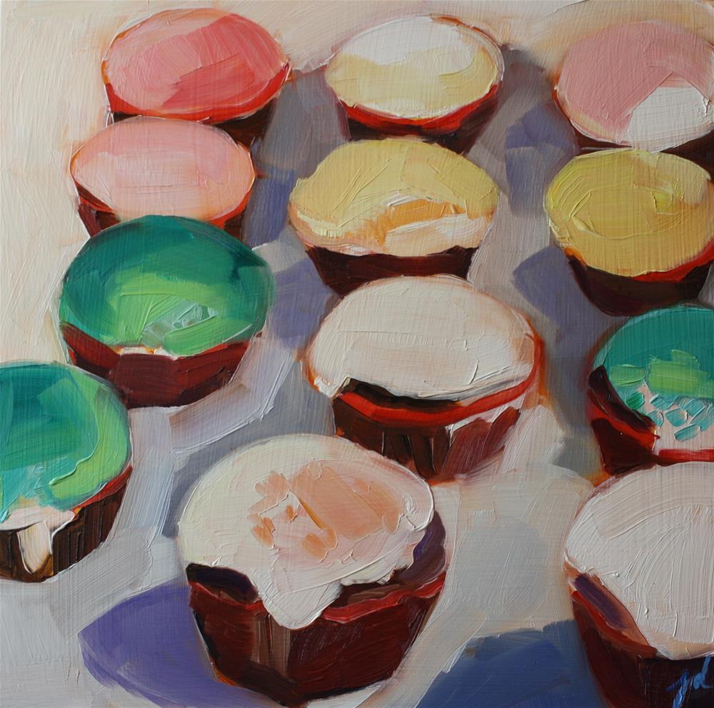 """Cupcake Color"" original fine art by Jessie Dodington"