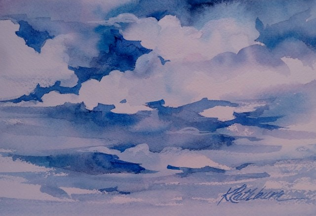 """Sky I"" original fine art by Kathy Los-Rathburn"