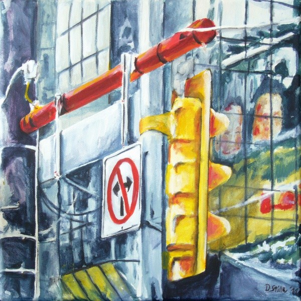 """0001 Dundas Square"" original fine art by Dietmar Stiller"