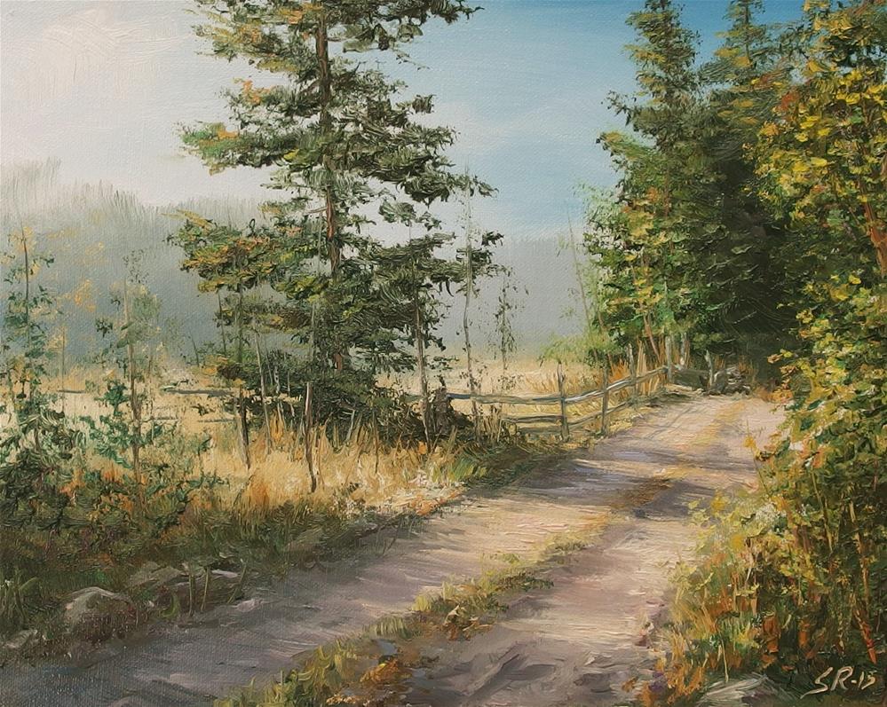 """""""To the farm"""" original fine art by Stig Rosenlund"""