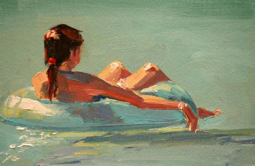 """floating around"" original fine art by Carol Carmichael"