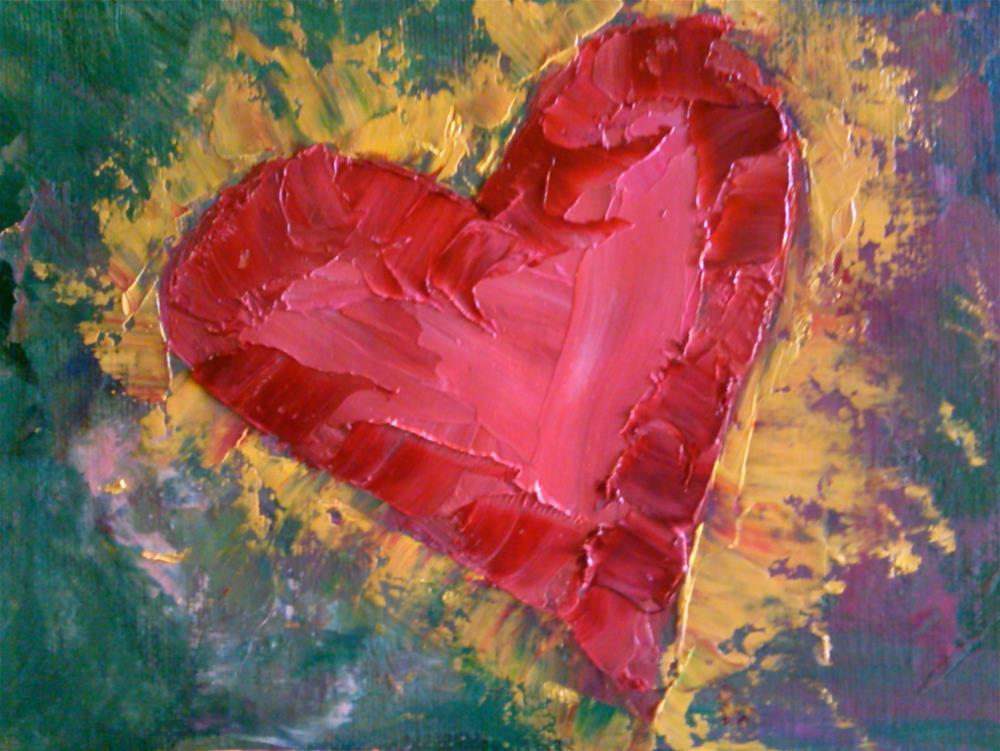 """Burning Love"" original fine art by Gerri Obrecht"