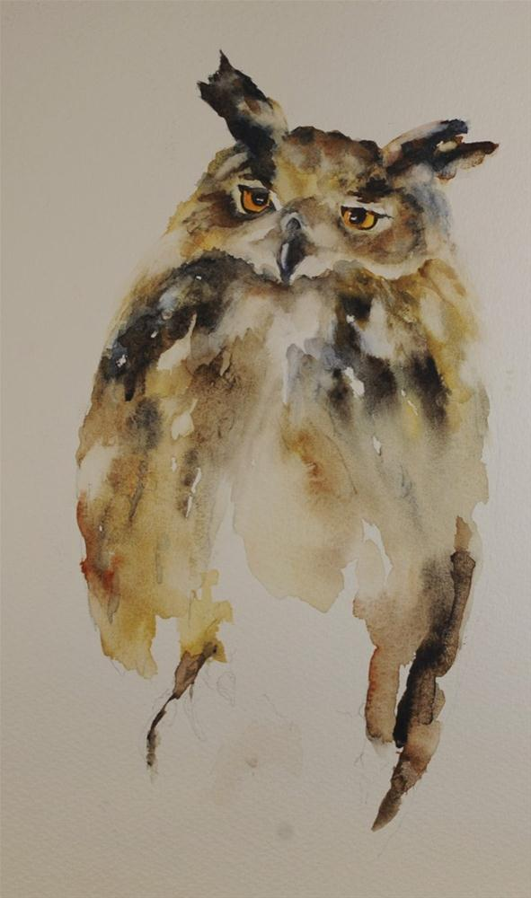 """Sylvan Height's Owl"" original fine art by Sue Churchgrant"
