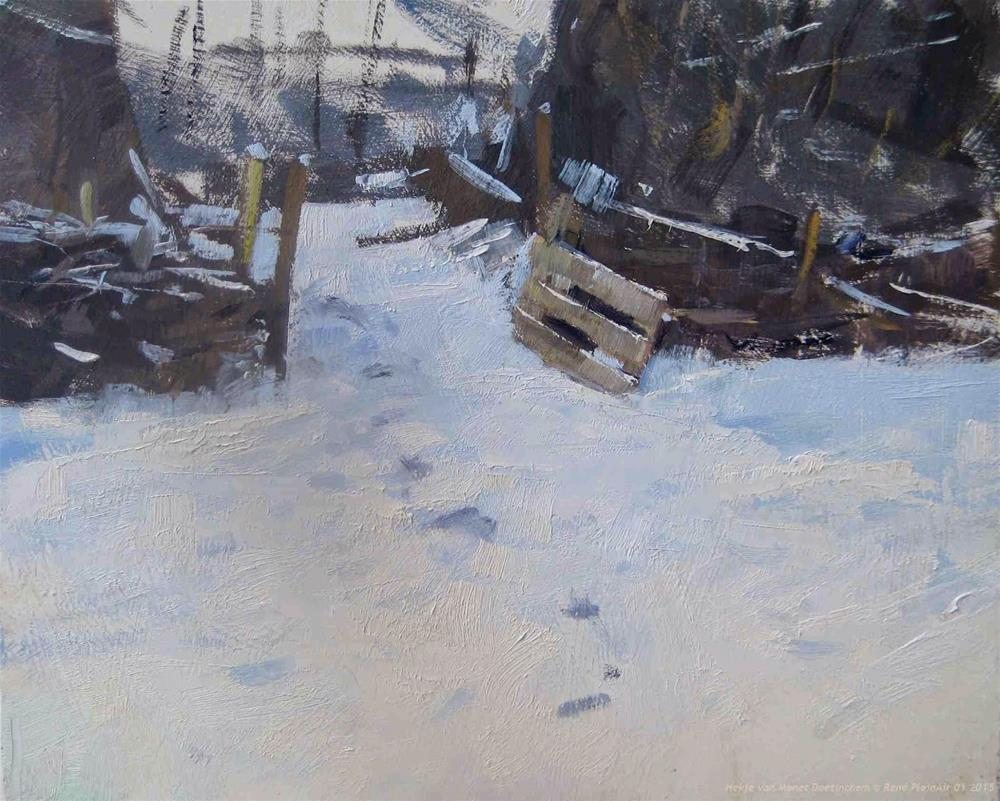 """Aweful White Doetinchem, The Netherlands"" original fine art by René PleinAir"