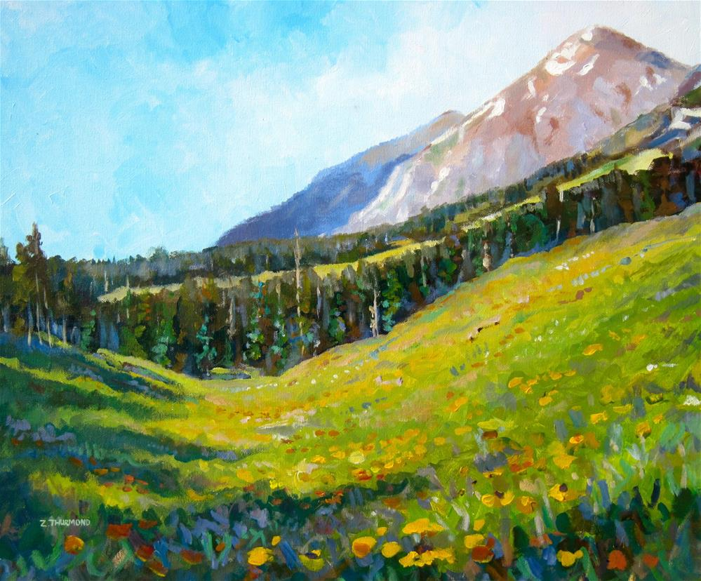 """Ruby Range July"" original fine art by Zack Thurmond"