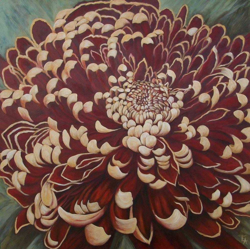 """Long Life Mum after Selina Werbelow"" original fine art by Elizabeth Elgin"