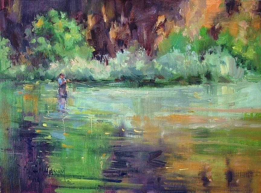 """Reflections"" original fine art by Mary Maxam"
