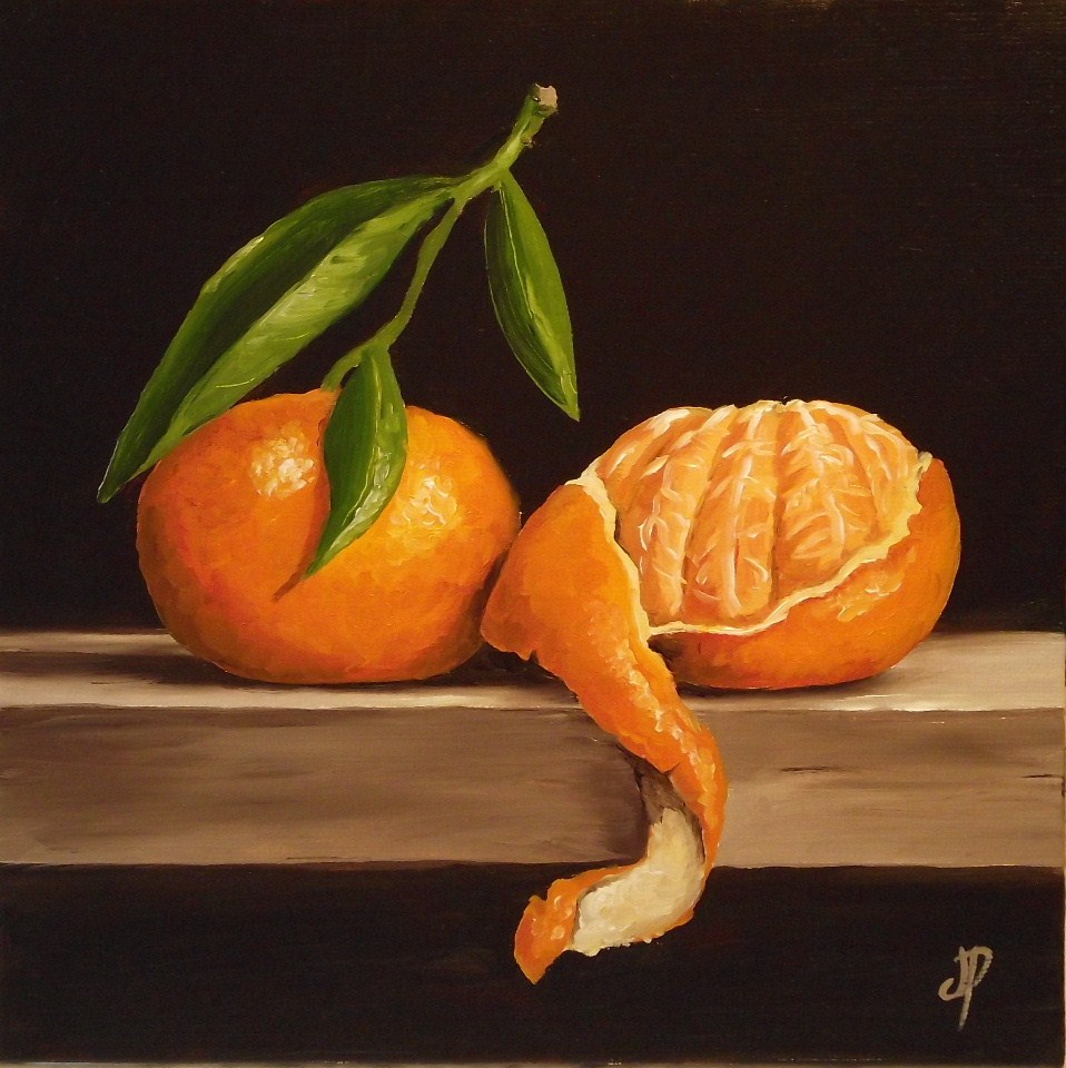 """Clementines"" original fine art by Jane Palmer"