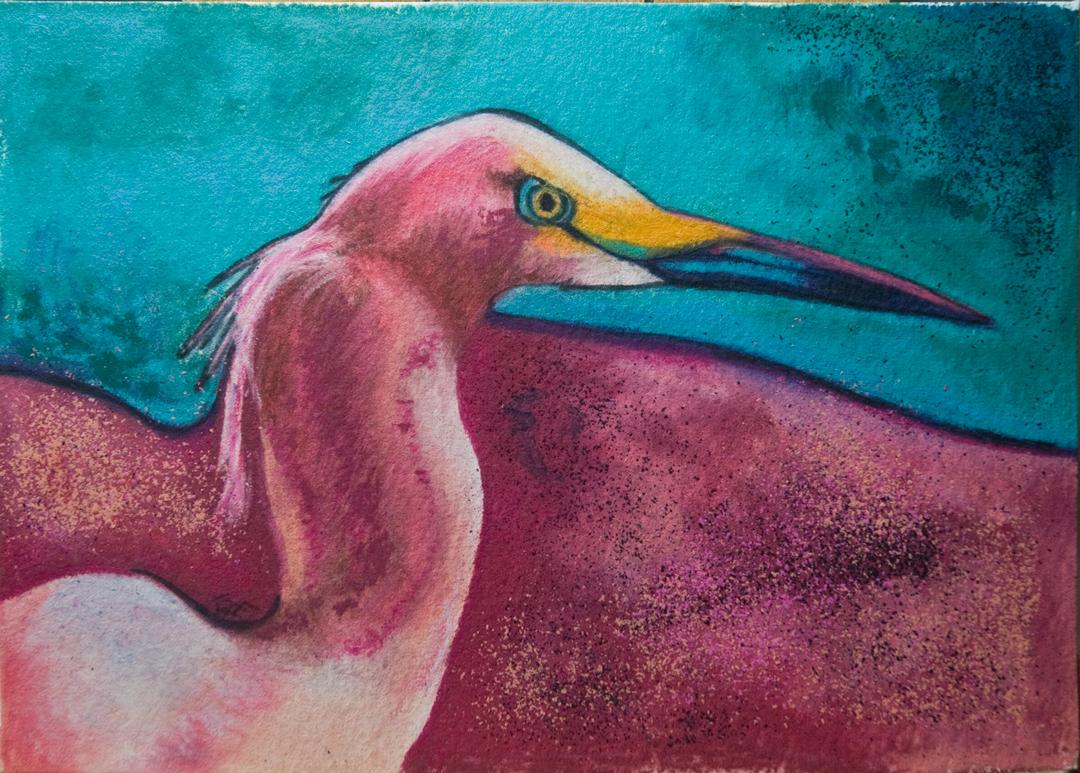 """No (r)Egrets"" original fine art by Terry Rempel-Mroz"