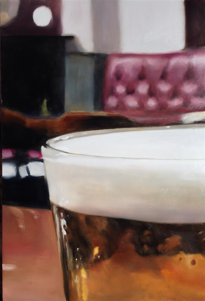 """Down t' Pub"" original fine art by James Coates"