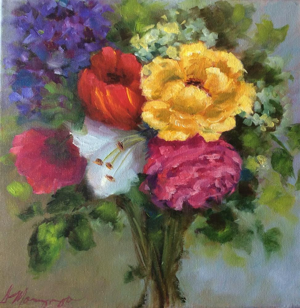 """Bouquet"" original fine art by Susie Monzingo"