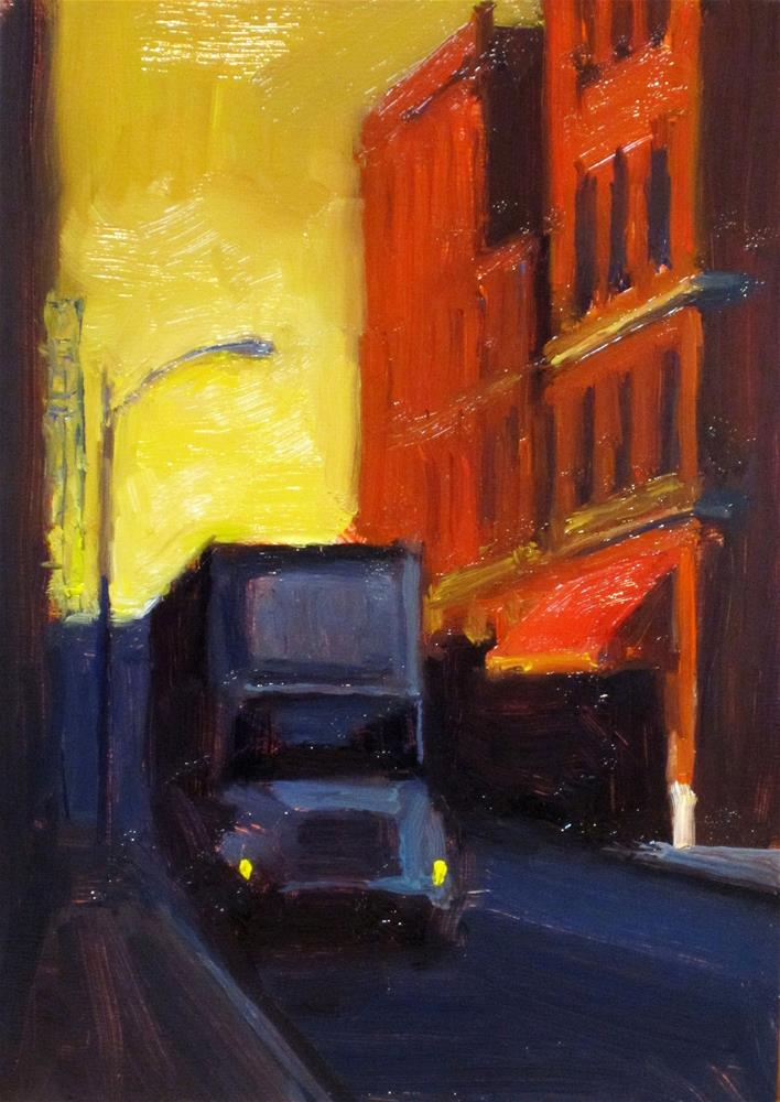 """loading zone"" original fine art by Dan Graziano"