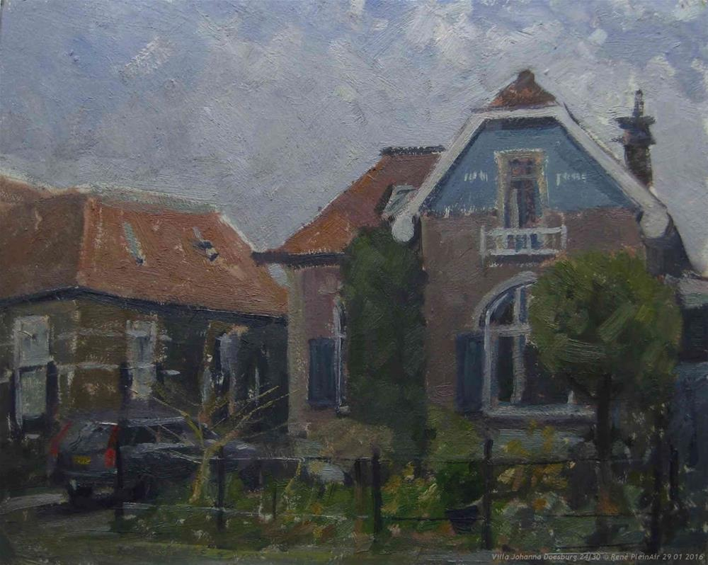 """Villa Johanna, Doesburg, The Netherlands."" original fine art by René PleinAir"
