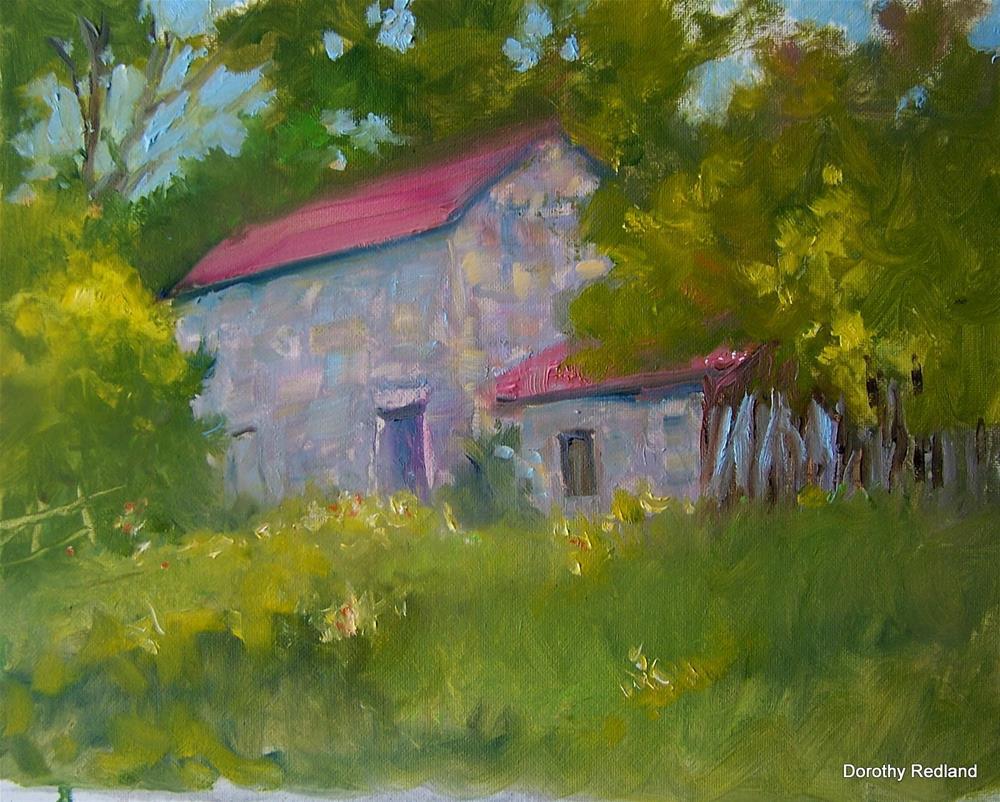 """Fredricksburg Rock barn"" original fine art by Dorothy Redland"