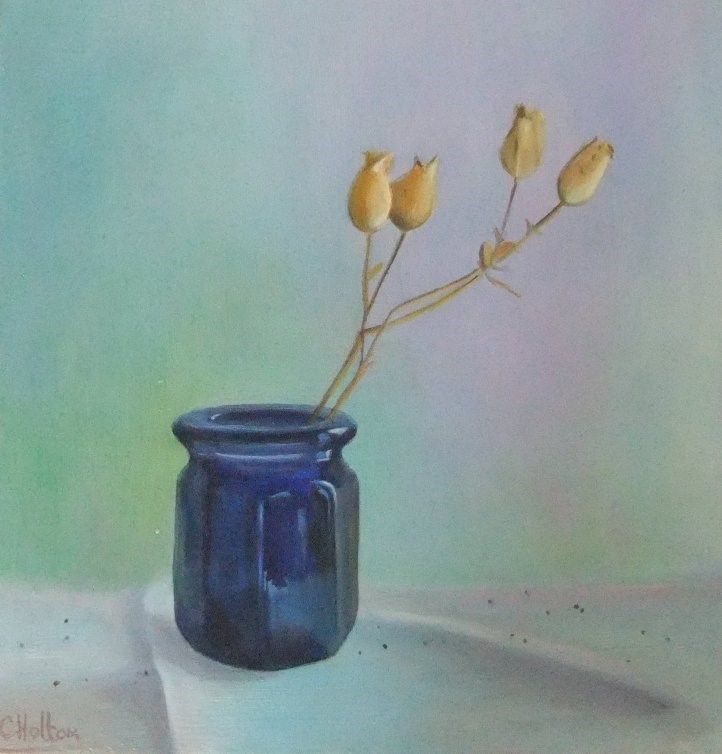 """Little Blue Jar"" original fine art by Cathy Holtom"