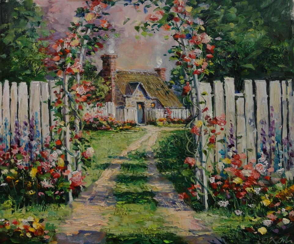 """Pathway Home"" original fine art by Kirk Miller"