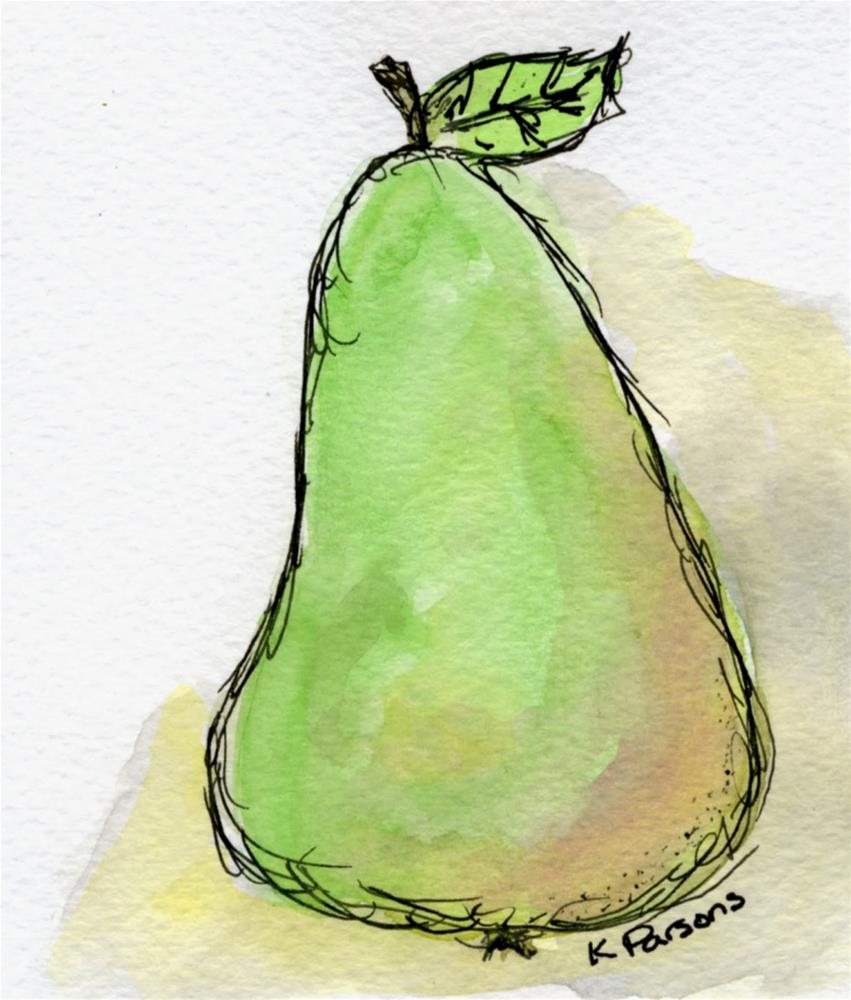 """Pear"" original fine art by Kali Parsons"