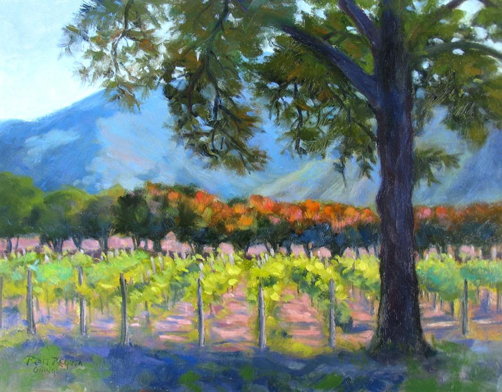 """""""Ingrid's Vineyard"""" original fine art by Rhett Regina Owings"""