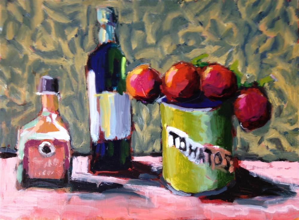 """""""Crown of Tomatoes"""" original fine art by Pamela Hoffmeister"""