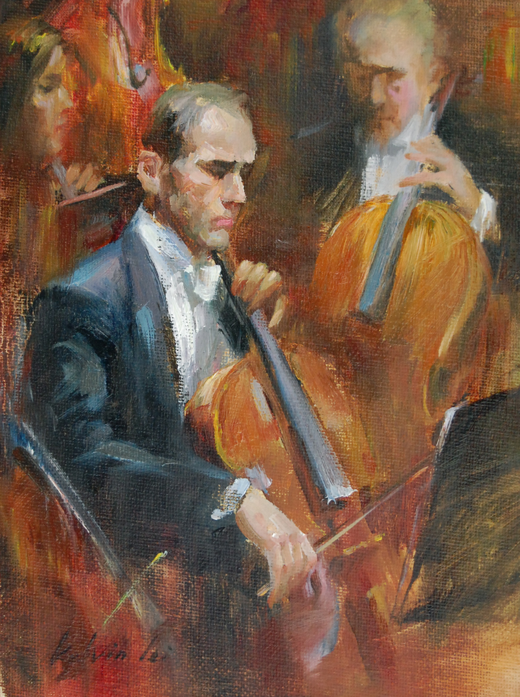 Sixth Symphony original fine art by Kelvin Lei