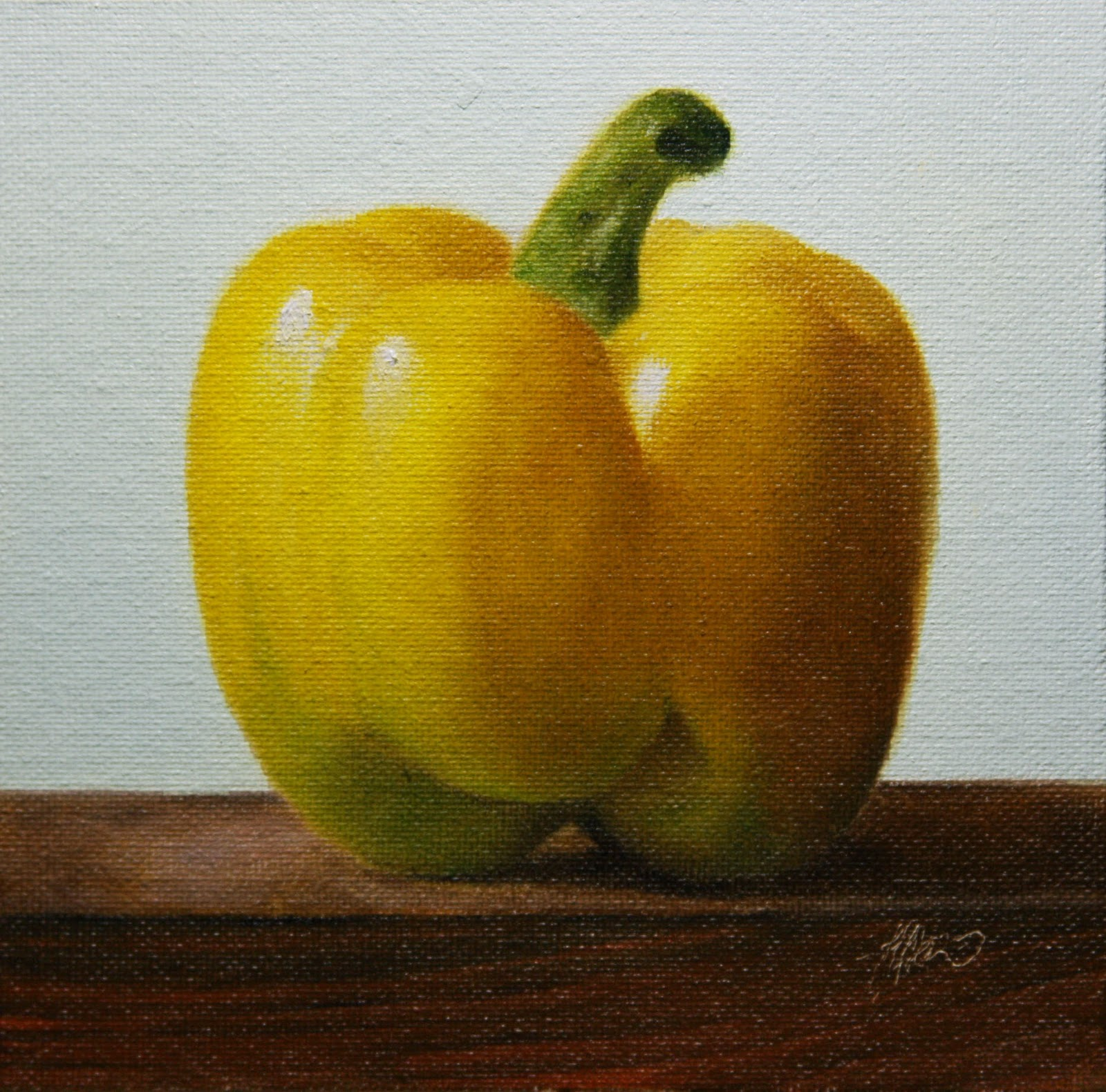 """Yellow Pepper"" original fine art by Jonathan Aller"