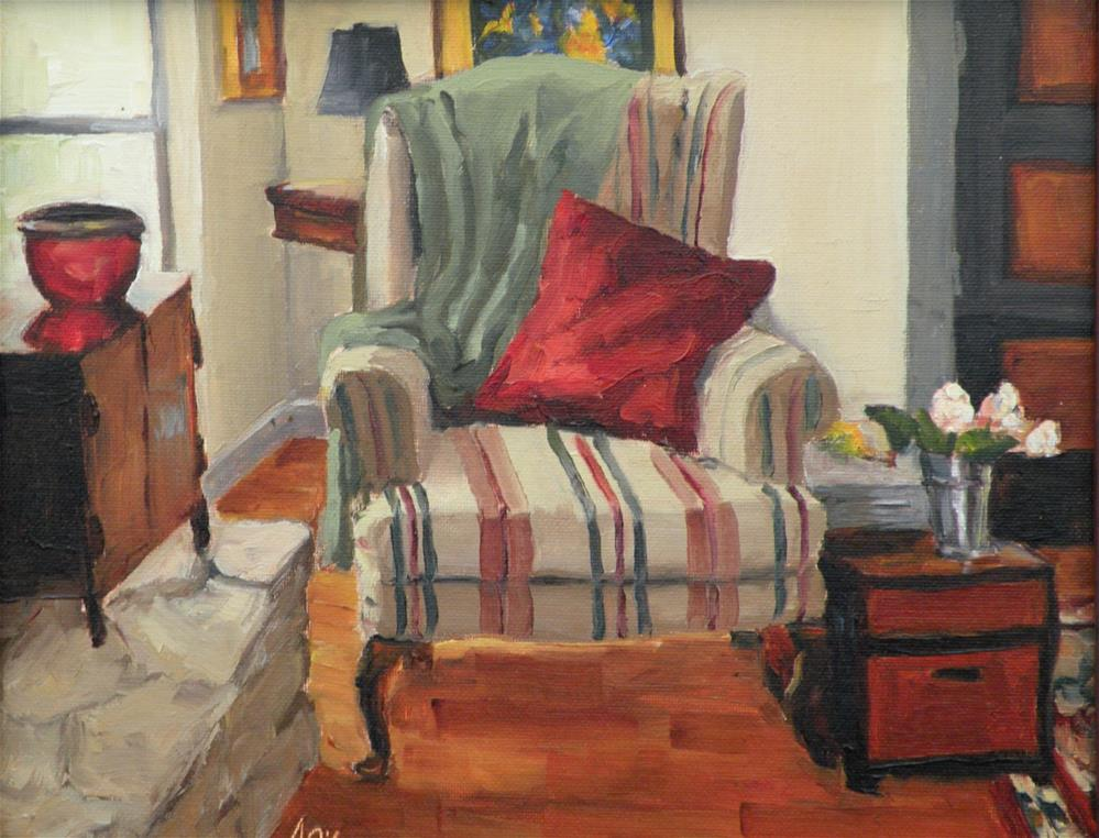 """Cozy Corner"" original fine art by Alice O'Leary"