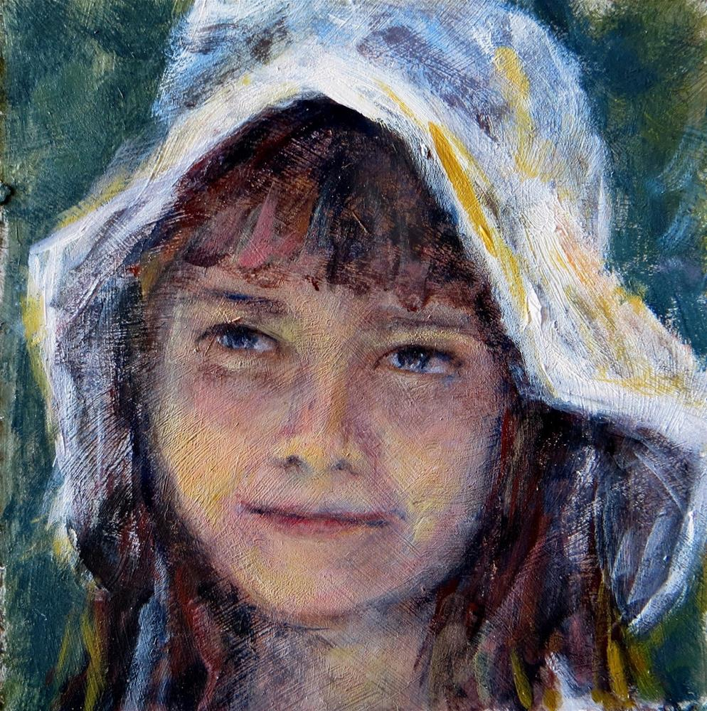 """Girl in White Hat"" original fine art by Tammie Dickerson"