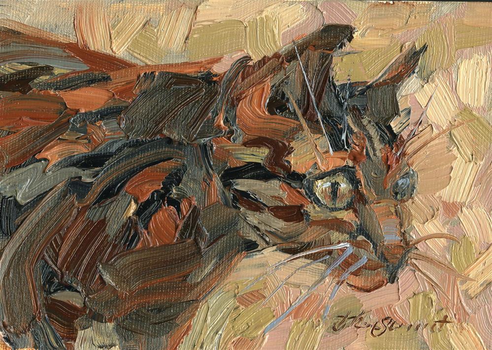 """Peepers"" original fine art by B. Rex Stewart"